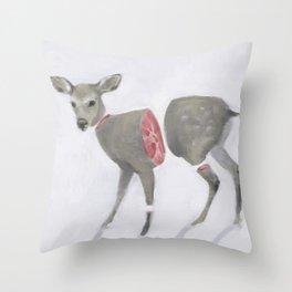 Poor Bambi Throw Pillow
