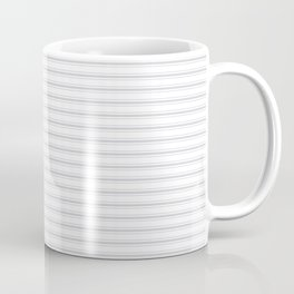 Soft Grey Mattress Ticking Narrow Striped Pattern - Fall Fashion 2018 Coffee Mug