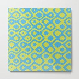 Brain Coral Yellow - Coral Reef Series 022 Metal Print