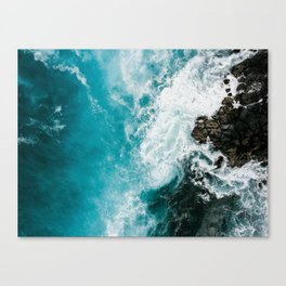 Hawaii Rocky Beach WAves Canvas Print