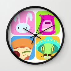 Floating BunnyHead Pop Square Wall Clock
