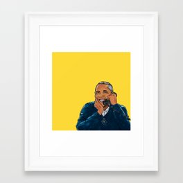 A Barry important call Framed Art Print