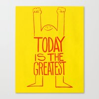 motivation Canvas Prints featuring Motivation by Joe McNeice
