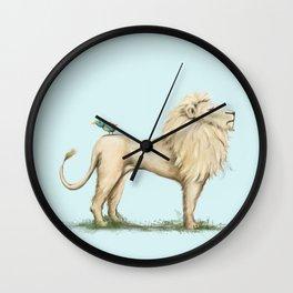 Leo Lion & Bird Wall Clock