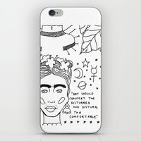 banksy iPhone & iPod Skins featuring Kahlo x Banksy by ☿ cactei ☿