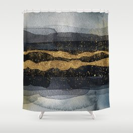 GOLD VEIN Abstract Watercolor Art Nr. 1 Shower Curtain