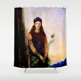 "Gustave Moreau ""Helen on the Walls of Troy"" Shower Curtain"