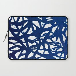 Blue Squiggles Laptop Sleeve