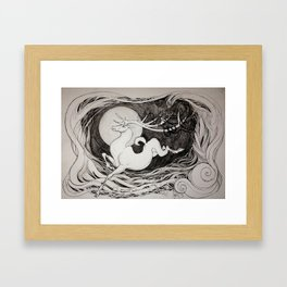 The Stag Who Admired His Reflection  Framed Art Print