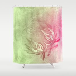 Pink and green wattle and kaleidoscope Shower Curtain