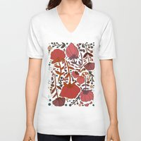 number V-neck T-shirts featuring Nature number 2. by Jo Cheung Illustration