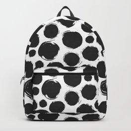 Dry brush black ink dots Backpack