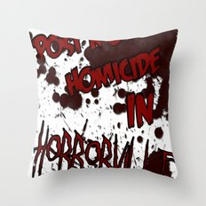 HorrorVille 13 B-movie flyer. Throw Pillow
