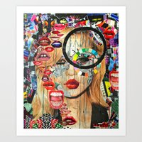 poker Art Prints featuring Poker Face by Katy Hirschfeld