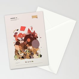 organic infographics Stationery Cards