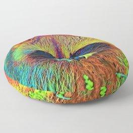 AnimalColor_Racoon_002 Floor Pillow