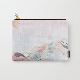 Abstract painted landscape of mountains Carry-All Pouch