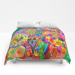 Pop Art World by Elisavet Comforters