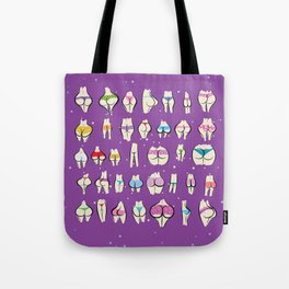 UNDERPANTS Purple Tote Bag