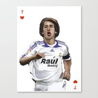 real madrid Canvas Prints featuring Raul Madrid by Dano77