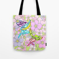 pixies Tote Bags featuring Pixies by Knot Your World
