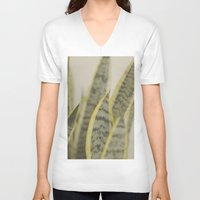 leaves V-neck T-shirts featuring Leaves by Pure Nature Photos