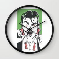 dracula Wall Clocks featuring Dracula by NathanJoyce