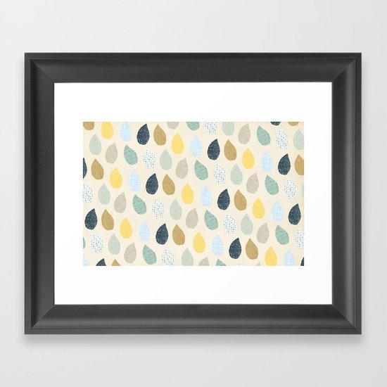 rain drops pattern Framed Art Print