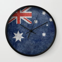 The National flag of Australia, Vintage version Wall Clock