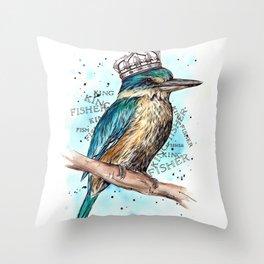 KING-Fisher Throw Pillow