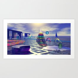 Glass Constructions 2 Art Print
