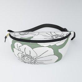 Outline flowers illustration - Floral 002 Fanny Pack