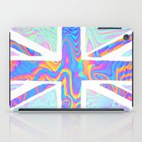 hologram iPad Cases featuring Holographic Union Jack  by Berberism