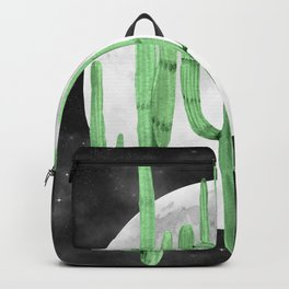 Cactus Nights Full Moon Starry Green by Nature Magick Backpack
