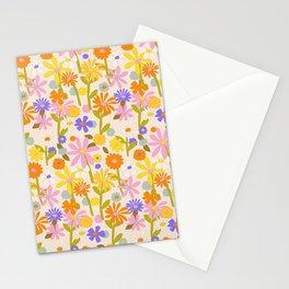 Flower Power Light Stationery Cards