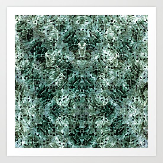 Green rocks Art Print