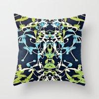 nouveau Throw Pillows featuring Nouveau by Tina Carroll