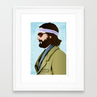 tenenbaum Framed Art Prints featuring Richie Tenenbaum by The Art Warriors