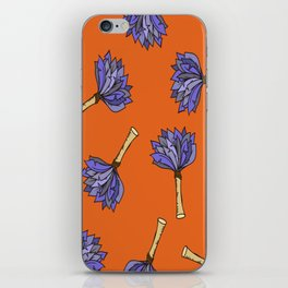 Vector Hand-Drawn Feather Duster Icon SEAMLESS iPhone Skin