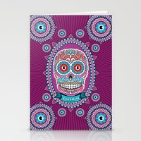 mexican Stationery Cards featuring Mexican Skull by Xonomitl