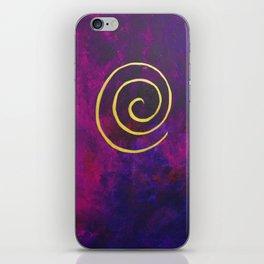 Deep Purple - Infinity Series With Gold iPhone Skin