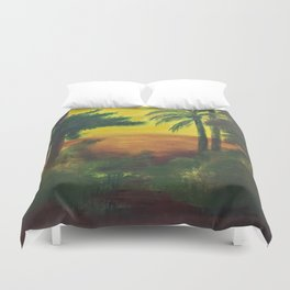 Day in the wetlands Duvet Cover