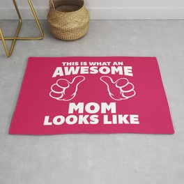 Awesome Mom Funny Quote Rug