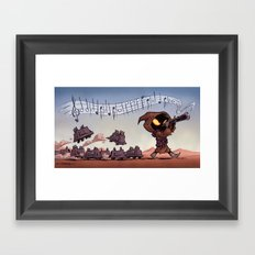 The Pied Piper of Tatooine Framed Art Print
