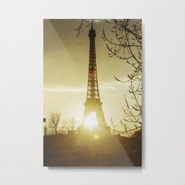 Paris eiffel tower and Seine river. Metal Print