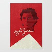 senna Canvas Prints featuring Ayrton Senna by Diego Maricato