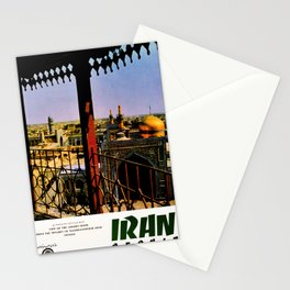 retro iconic Persia poster Stationery Cards