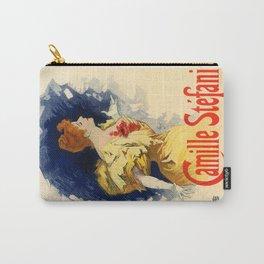 Belle Epoque vintage poster, Camille Stefani Carry-All Pouch