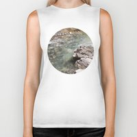 allyson johnson Biker Tanks featuring Johnson Canyon rocks by RMK Photography