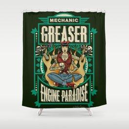 Mechanic Greaser Shower Curtain